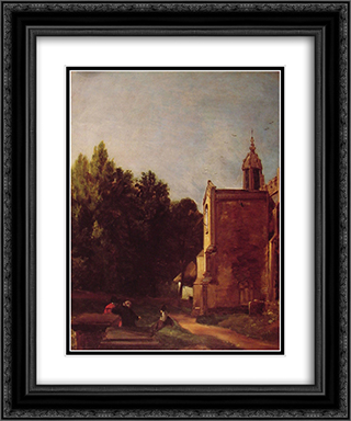 A Church Porch 20x24 Black or Gold Ornate Framed and Double Matted Art Print by John Constable