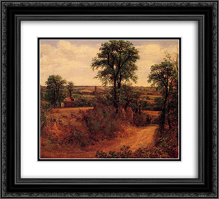 A Lane near Dedham 22x20 Black or Gold Ornate Framed and Double Matted Art Print by John Constable