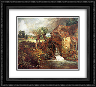 A Mill at Gillingham in Dorset 22x20 Black or Gold Ornate Framed and Double Matted Art Print by John Constable