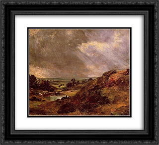 Branch Hill Pond Hampstead 22x20 Black or Gold Ornate Framed and Double Matted Art Print by John Constable