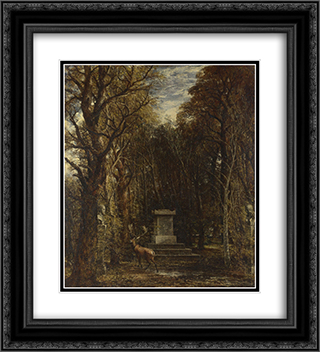Cenotaph to the Memory of Sir Joshua Reynolds 20x22 Black or Gold Ornate Framed and Double Matted Art Print by John Constable