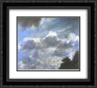 Cloud Study 22x20 Black or Gold Ornate Framed and Double Matted Art Print by John Constable