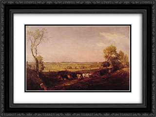 Dedham Vale Morning 24x18 Black or Gold Ornate Framed and Double Matted Art Print by John Constable
