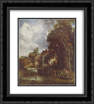 Die Valley Farm 20x22 Black or Gold Ornate Framed and Double Matted Art Print by John Constable