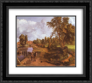 Flatford Mill 22x20 Black or Gold Ornate Framed and Double Matted Art Print by John Constable
