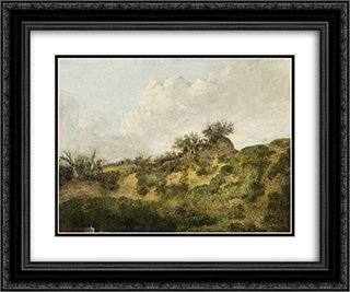 A Sandy Bank 24x20 Black or Gold Ornate Framed and Double Matted Art Print by John Crome