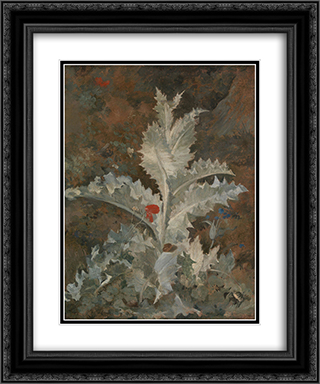 A Thistle 20x24 Black or Gold Ornate Framed and Double Matted Art Print by John Crome