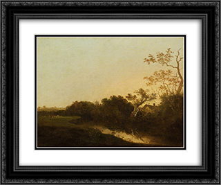 At Honingham, Norfolk 24x20 Black or Gold Ornate Framed and Double Matted Art Print by John Crome