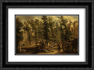 Boulevard des Italiens, Paris 24x18 Black or Gold Ornate Framed and Double Matted Art Print by John Crome