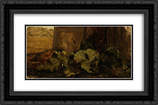 Dock Leaves 24x16 Black or Gold Ornate Framed and Double Matted Art Print by John Crome