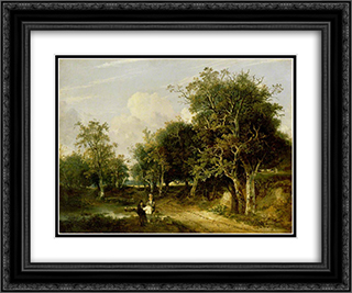 Grove Scene 24x20 Black or Gold Ornate Framed and Double Matted Art Print by John Crome