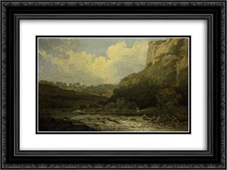 High Tor, Matlock 24x18 Black or Gold Ornate Framed and Double Matted Art Print by John Crome