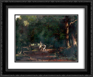Landscape 24x20 Black or Gold Ornate Framed and Double Matted Art Print by John Crome