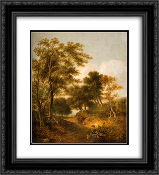 Lane near Norwich 20x22 Black or Gold Ornate Framed and Double Matted Art Print by John Crome
