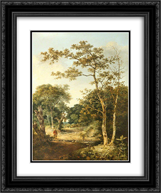 Marlingford Grove 20x24 Black or Gold Ornate Framed and Double Matted Art Print by John Crome