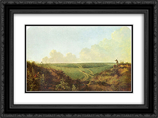 Mousehold Heath, Norwich 24x18 Black or Gold Ornate Framed and Double Matted Art Print by John Crome