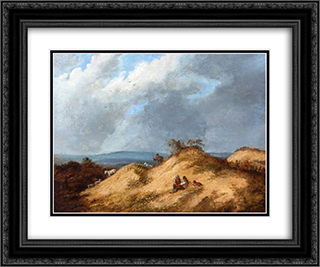 Mousehold Heath 24x20 Black or Gold Ornate Framed and Double Matted Art Print by John Crome