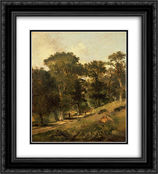 Postwick Grove, Norwich 20x22 Black or Gold Ornate Framed and Double Matted Art Print by John Crome