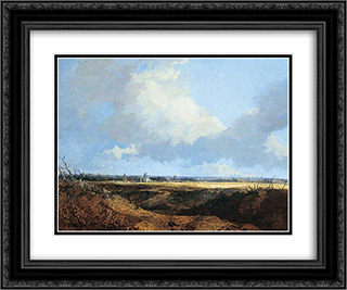 St Benet's Abbey, Norfolk 24x20 Black or Gold Ornate Framed and Double Matted Art Print by John Crome