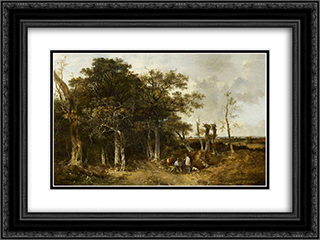 The Beaters 24x18 Black or Gold Ornate Framed and Double Matted Art Print by John Crome
