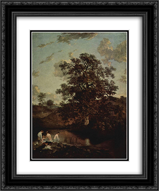 The Poringland Oak 20x24 Black or Gold Ornate Framed and Double Matted Art Print by John Crome