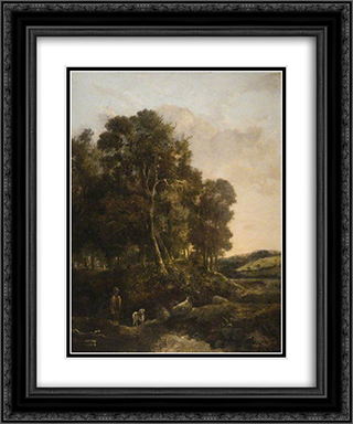 The Way through the Wood 20x24 Black or Gold Ornate Framed and Double Matted Art Print by John Crome