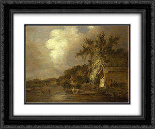 The Yare at Thorpe, Norwich 24x20 Black or Gold Ornate Framed and Double Matted Art Print by John Crome