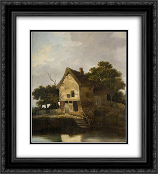 View at Blofield, near Norwich 20x22 Black or Gold Ornate Framed and Double Matted Art Print by John Crome