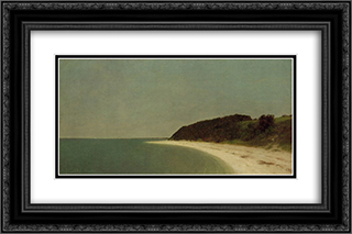 Eaton's Neck, Long Island 24x16 Black or Gold Ornate Framed and Double Matted Art Print by John Frederick Kensett