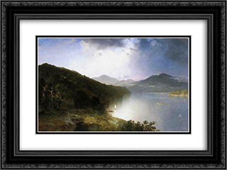 Hudson River 24x18 Black or Gold Ornate Framed and Double Matted Art Print by John Frederick Kensett