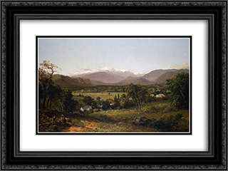 Mount Washington from the Valley of Conway 24x18 Black or Gold Ornate Framed and Double Matted Art Print by John Frederick Kensett
