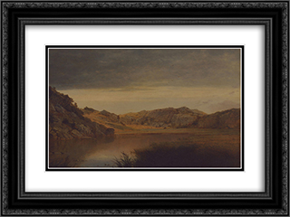 Paradise Rocks, Newport 24x18 Black or Gold Ornate Framed and Double Matted Art Print by John Frederick Kensett