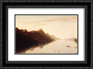 Upper Mississippi 24x18 Black or Gold Ornate Framed and Double Matted Art Print by John Frederick Kensett