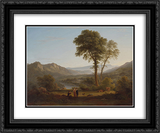 At Matlock - mist rising 24x20 Black or Gold Ornate Framed and Double Matted Art Print by John Glover