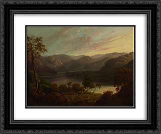 Landscape view in Cumberland 24x20 Black or Gold Ornate Framed and Double Matted Art Print by John Glover
