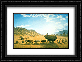 My Harvest Home 24x18 Black or Gold Ornate Framed and Double Matted Art Print by John Glover