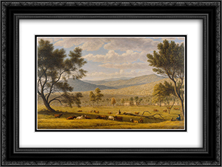 Patterdale farm 24x18 Black or Gold Ornate Framed and Double Matted Art Print by John Glover