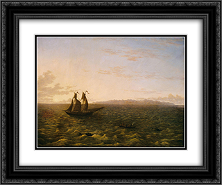 The Island of Madeira 24x20 Black or Gold Ornate Framed and Double Matted Art Print by John Glover