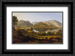 Ullswater, early morning 24x18 Black or Gold Ornate Framed and Double Matted Art Print by John Glover