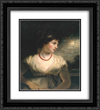 Jane Elizabeth, Countess of Oxford 20x22 Black or Gold Ornate Framed and Double Matted Art Print by John Hoppner