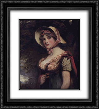 Lady Louisa Manners, Countess of Dysart 20x22 Black or Gold Ornate Framed and Double Matted Art Print by John Hoppner