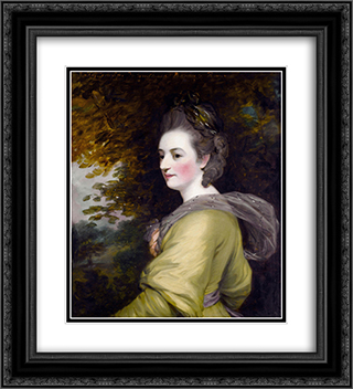 Lady Romney, Frances Wyndham 20x22 Black or Gold Ornate Framed and Double Matted Art Print by John Hoppner