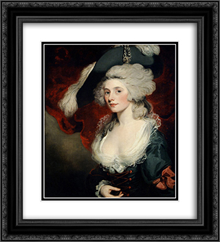 Mary Robinson as Perdita 20x22 Black or Gold Ornate Framed and Double Matted Art Print by John Hoppner