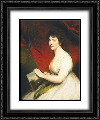 Miss Mary Linwood 20x24 Black or Gold Ornate Framed and Double Matted Art Print by John Hoppner