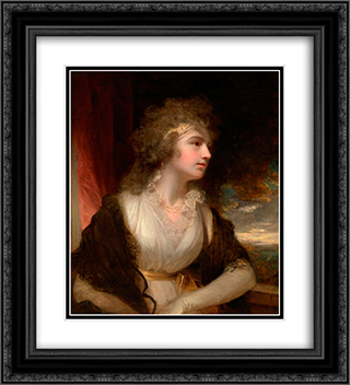 Portrait of a lady 20x22 Black or Gold Ornate Framed and Double Matted Art Print by John Hoppner