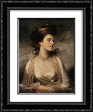 Portrait of a Lady as Evelina 20x24 Black or Gold Ornate Framed and Double Matted Art Print by John Hoppner
