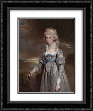 Portrait of Charlotte Walsingham, Lady Fitzgerald 20x24 Black or Gold Ornate Framed and Double Matted Art Print by John Hoppner