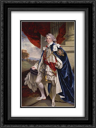 Portrait of George IV, when Prince of Wales 18x24 Black or Gold Ornate Framed and Double Matted Art Print by John Hoppner