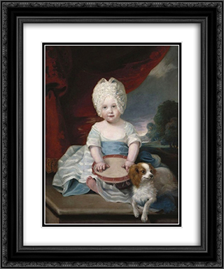 Princess Amelia 20x24 Black or Gold Ornate Framed and Double Matted Art Print by John Hoppner