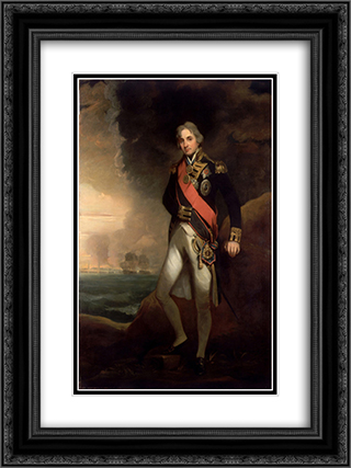 Rear-Admiral Sir Horatio Nelson 18x24 Black or Gold Ornate Framed and Double Matted Art Print by John Hoppner